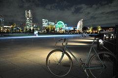 Evening ride and Bicycle Shops in Yokohama.