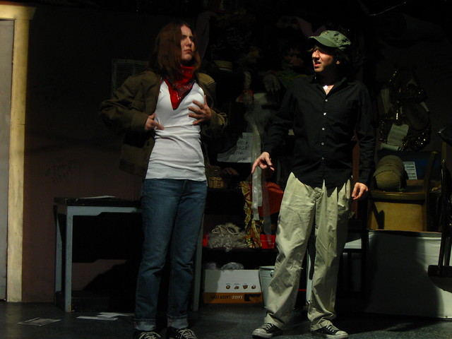 Seagull (Suzanne Karpinski) and Trash-Heap (Trey Perkins) find their bodies have changed in the new dimension.