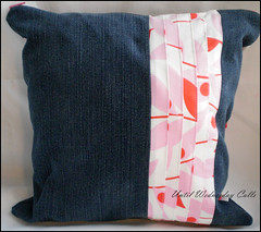 Denim & Pink Pillow Pleats