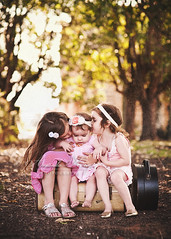 My Girls ({amanda}) Tags: girls kids vintage mine afternoon naturallight pathway suitcases 15months fouryears 4years 8years dollcake eightyears 85mm14 amandakeeysphotography spring2010 shabbyrosebynicole