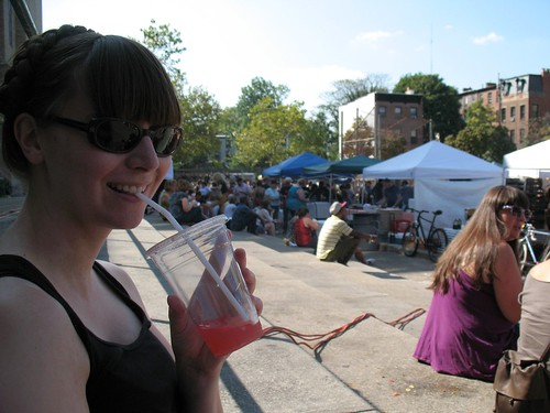 amazing watermelon juice at the Brooklyn Flea Market