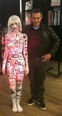 Jacques Rosas witgh Body paint art