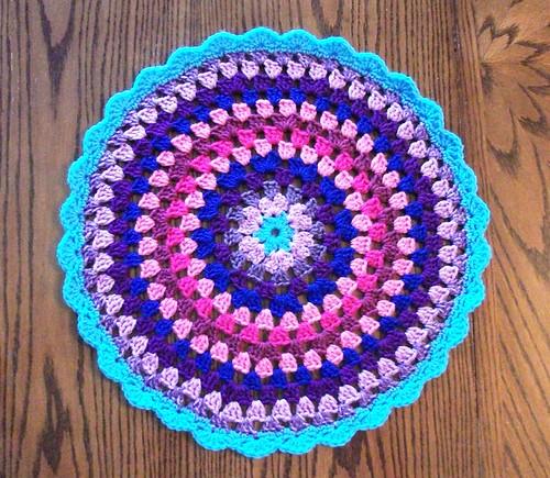 19-inch Blue/Purple Mandala