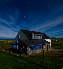 Future Ruin (The Flying Monk) Tags: longexposure nightphotography house lightpainting moonlight bluelight bigdipper outerhebrides ecohouse housebuild newbuild theplough isleofharris scarista theflyingmonk futureruin