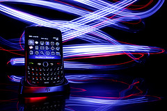 BlackBerry (Gaurav Amarnani) Tags: light lightpainting black painting menu dock berry long exposure blackberry main flash led gmail flashlight curve gemini charging bbm 8900 javeline strobist jerrymodeste