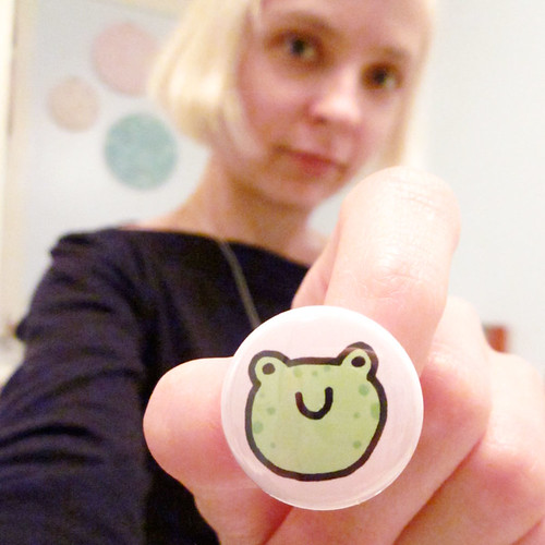 Happy Frog Face Button 3