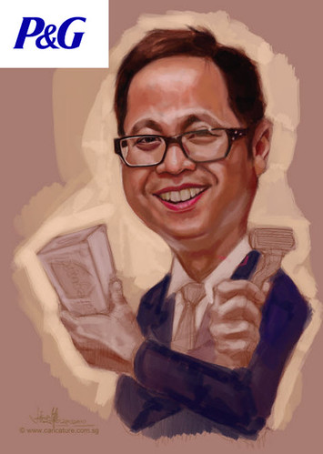 digital caricature for P&G - Ivan - 2 small