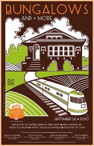 2010 Berwyn Bungalow Tour Poster