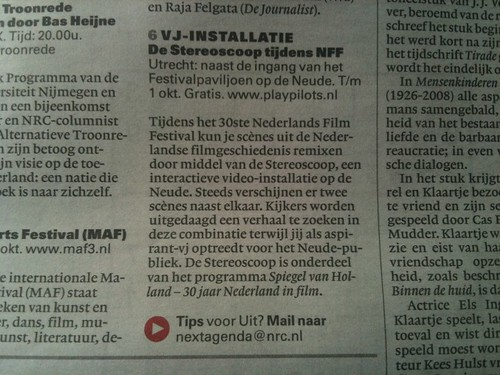PLAY Pilots De Stereoscoop in NRC Next #NFF
