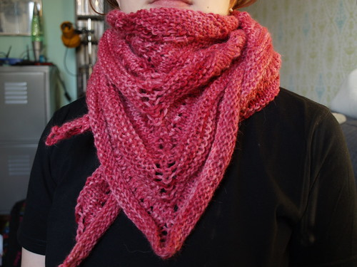 Berry Simple Shawl