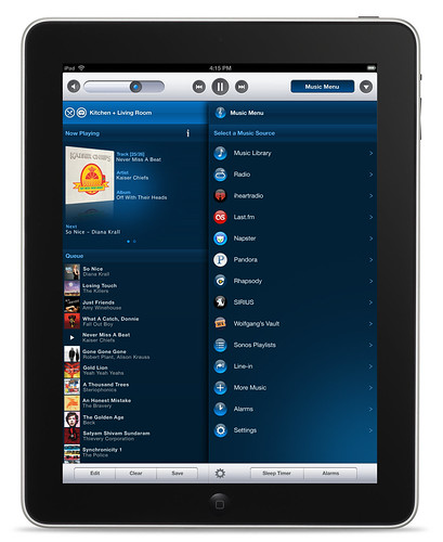 SONOS CONTROLLER FOR IPAD NOW AVAILABLE AS FREE APP