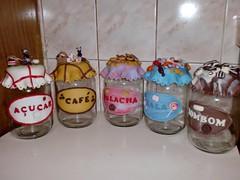 conjunto de potes grandes (Vanessa Arts) Tags: cafe biscuit açucar bombom bala pote mantimentos