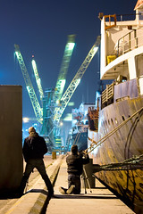 Port Intrusion (Francesco Cantoni) Tags: night port lights site construction long exposure ships industries ravenna