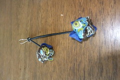 pendant (So cute*) Tags: blue brown azul bag flor marrom maletinha