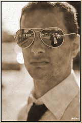 poll (Tpkadesign) Tags: old wedding portrait black color beautiful sepia vintage eyes shot paolo camicia reflect antiques bella pollo press riflessi bianco 2009 nero matrimonio poll rayban 2010 padova occhiali padua seppia argento cravatta