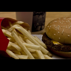093010 (AgentThirteen) Tags: food burger fat frenchfries mcdonalds cheeseburger fries 365 calories quarterpounder royalewithcheese quarterpounderwithcheese hamburge mcroyale unexplainablyappealing