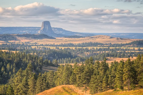 Approaching Devils Tower