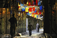 Descend to Heaven (David Mor {mostly off}) Tags: sunrise alley colours muslim jerusalem christian jewish descend ascend pious flages burialtomb ascendingspirit bestcapturesaoi ascendsaint religiouspious