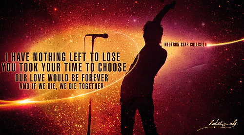 inspired by neutron star collision-muse