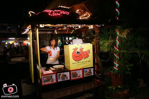 Uncle Ben Burger babi Ming tien stall