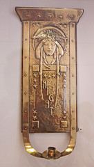 Night candle sconce - handworked brass with woman's face (Monceau) Tags: woman metal night candle sconce brass artscrafts handworked