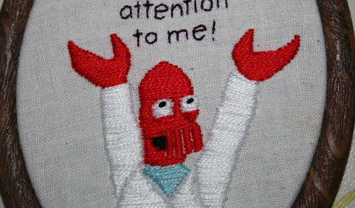 Zoidberg embroidery