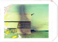 Polaroid 59 Barn (Myrna Jacobs) Tags: country bellaire polaroid59 polaroidbarncolorbellairemichiganfarm mifarm