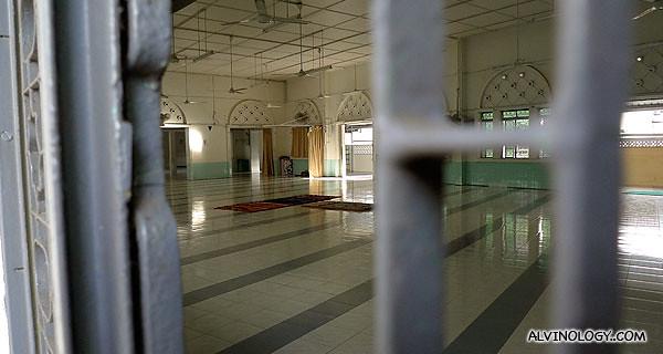 A peek into the mosque, through the open windows