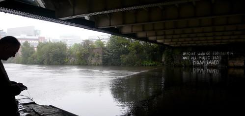Bill Drummond and his under-bridge graffiti