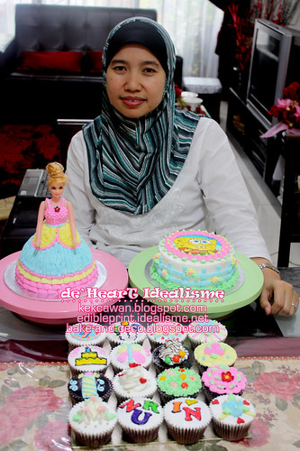 Batch 21 Sept:  Buttercream Cake + Cupcakes + Doll Cake