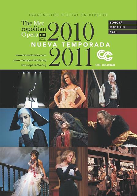 Vuelve a Colombia la temporada de la Metropolitan Opera de New York by Fila 10