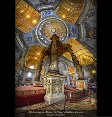 Michelangelo's Dome - St. Peter's Basilica, Vatican (HDR Vertorama) (farbspiel) Tags: travel vacation panorama holiday vatican history tourism church photoshop geotagged religious temple photography nikon worship interior religion belief historic holy journey dome handheld stitching photomerge vat spiritual michelangelo stitched dri hdr highdynamicrange hdri tempel heilig stpetersbasilica vaticancity superwideangle 10mm postprocessing glaube dynamicrangeincrease ultrawideangle d90 photomatix religis tonemapped tonemapping detailenhancer vertorama topazadjust topazdenoise klausherrmann topazsoftware sigma1020mmf35exdchsm topazphotoshopbundle geo:lon=1245381832 geo:lat=4190246869