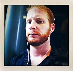 tight lipped (redjoe) Tags: nyc newyorkcity gay light urban man male me self hair fur beard ginger manhattan redhead midtown headphones facialhair freckles redhair fuzz redjoe iphone4 joehorvath shakeitphoto