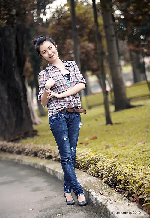chụp hình chân dung model Nhã Khanh