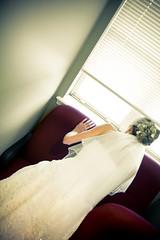 (Barry.Lenard) Tags: wedding oklahoma window bride looking dressingroom anticipation forestridgegolfclub