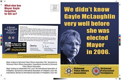Mclaughlin mailer 1 (Contra Costa Times) Tags: richmond richmondpolice gaylemclaughlin richmondmayor richmondfirefighters