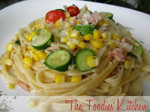 Corn Cream Pasta