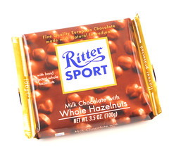 RitterSport Milk Chocolate Whole Hazelnuts