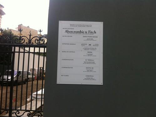 Abercrombie & Fitch à Paris c'est pour bientôt