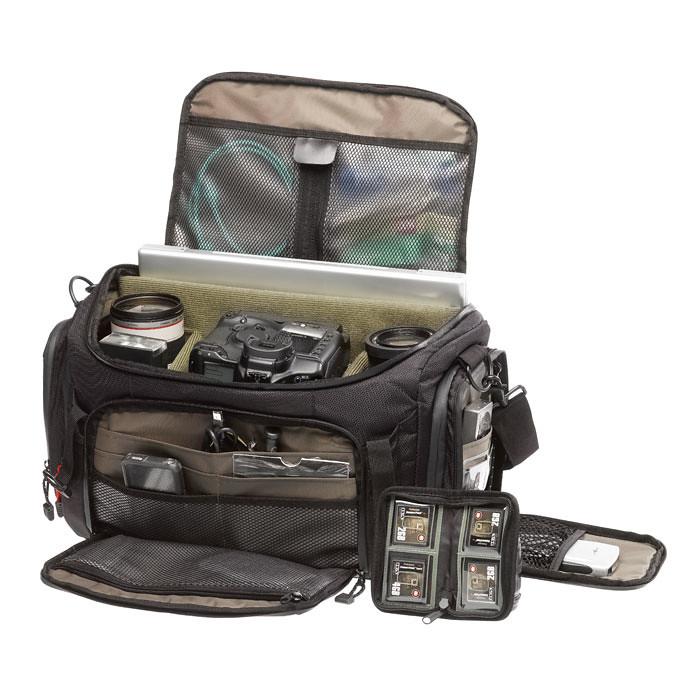 Tenba camera bag Shootout shoulder lookinside