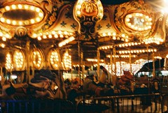 (maeglynn.) Tags: summer film 35mm canon blurry ae1 statefair carousel northdakota merrygoround
