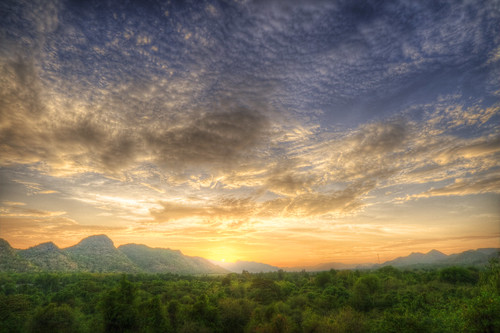 Kanchanaburi Sunset a la HDR, #2