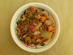 Chestnut, fennel, and Puy lentil stew