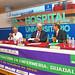 El secretario general del sindicato, Alejandro Laguna y el director generente del Hospital, Carlos Armendáriz.