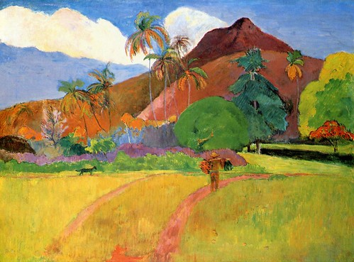 Tahitian Landscape-1893, by Paul Gauguin