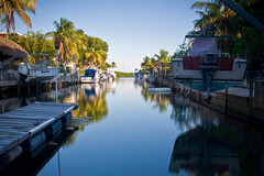 Double vision (Erice7) Tags: reflections keys boats canal florida snapshot grandfathershouse 9gnd