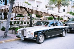 Rolls-Royce On South Beach (Phillip Pessar) Tags: auto camera film car minolta florida kodak rollsroyce 400 hd miamibeach southbeach sobe kodak400 c41
