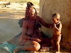 Himba Namibia (oder345nn) Tags: africa red people black kids children kid african wildlife culture tribal kinder menschen kind safari afrika colored tribe ethnic namibia farbig schwarz snot tribo himba afrique ethnology tribu namibie tribus vlker ethnie himbas glanders