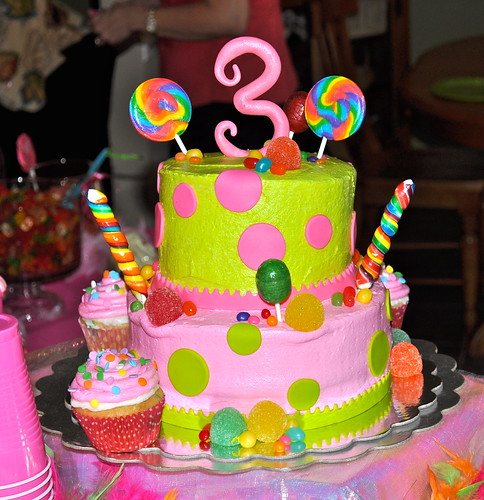 Candy filled Birthday cake