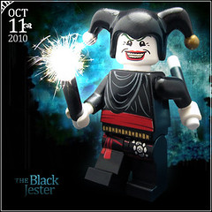 October 11 - The Black Jester (Morgan190) Tags: halloween court scary october advent calendar lego jester magic royal creepy tricks minifig custom 2010 m19 minifigure morgan19